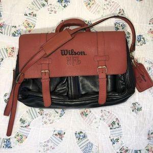 NFL Wilson Football Leather Laptop Bag